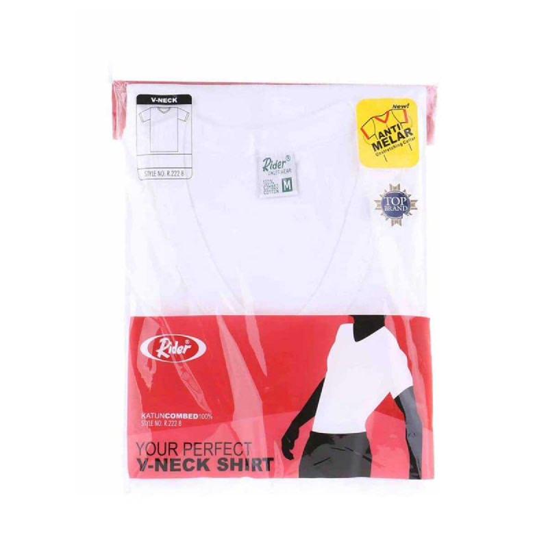 Rider T-Shirt V-Neck White Type R222BP Size M