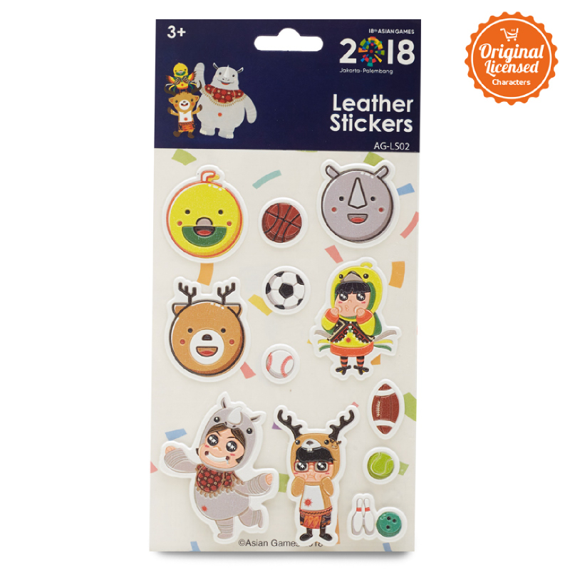 Asian Games Leather Sticker AG-LS002