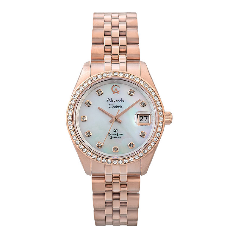 Alexandre Christie Classic Steel AC 5012 MDBRGMS Men Mother Of Pearl Dial Rose Gold Stainless Steel
