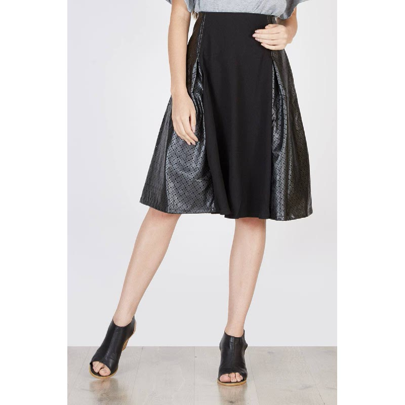 Orchid Skater Skirt Monochrome Black