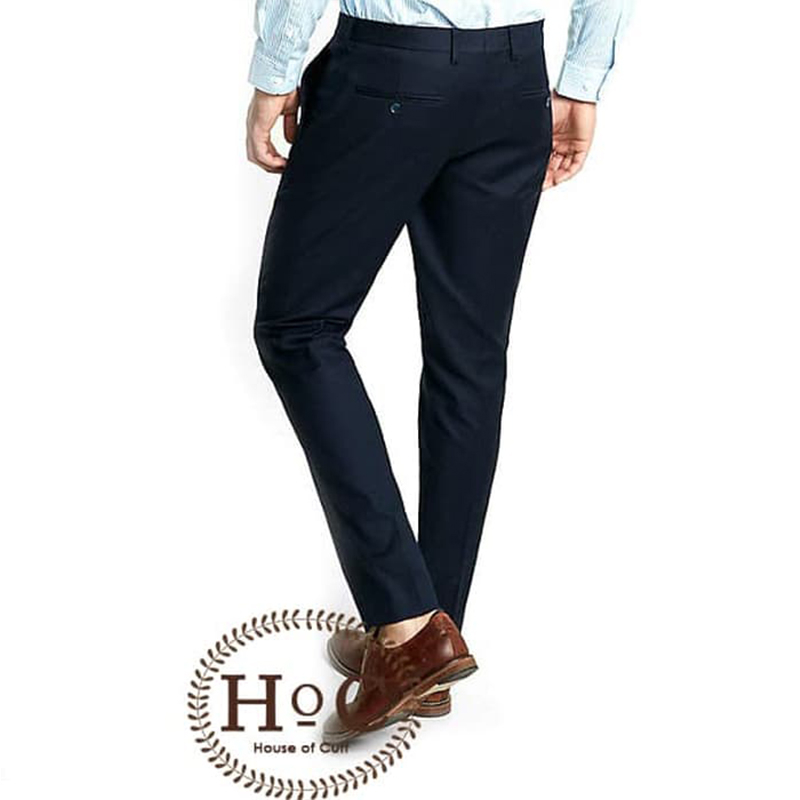 House Of Cuff Celana Navy Blue Trouser