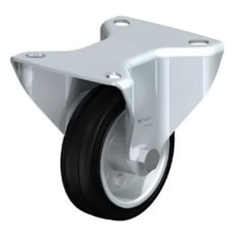 B-VE 80R Standard Solid Rubber Tyre with Fixed Castors B-VE 100R