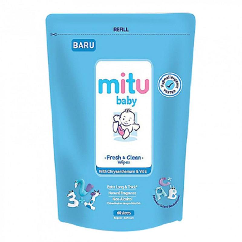 Mitu Baby Tissue Refill Blue 60 Sheet