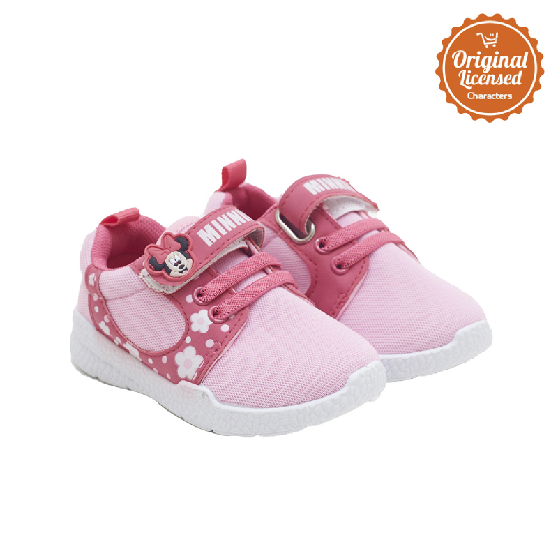 90 Years of Magic Dinsey Minnie Mouse Baby Girl Sport Shoes Pink