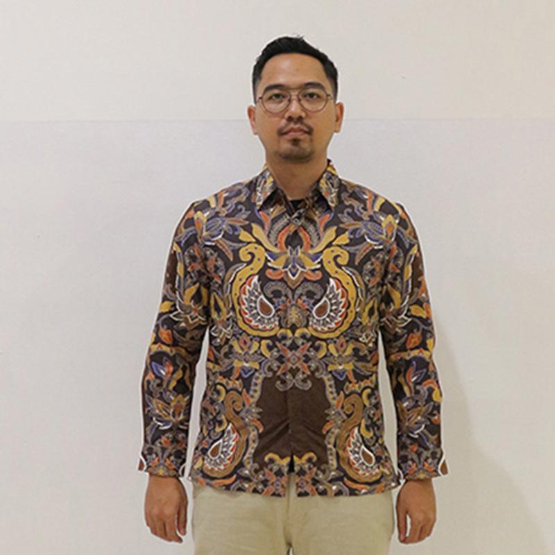 Batik Semar Pria Hem Panjang Kol Ctn Sekar Manunggal Bs 20 M