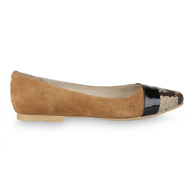 Winston Smith Flat Shoes 20025-Khaki