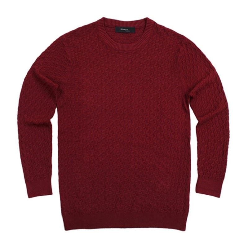 Wool Round Neck Knit - Wine