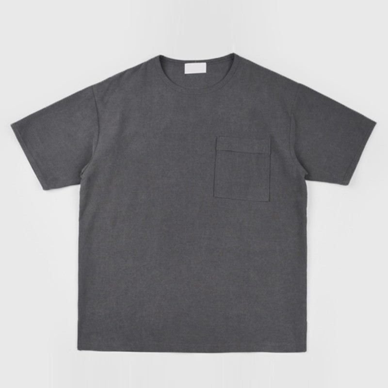 Howel Pocket Linen Short Sleeve - CHARCOAL