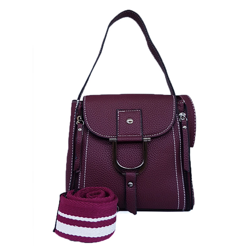 Catriona By Cocolyn Erin Top Handle Bag Purple