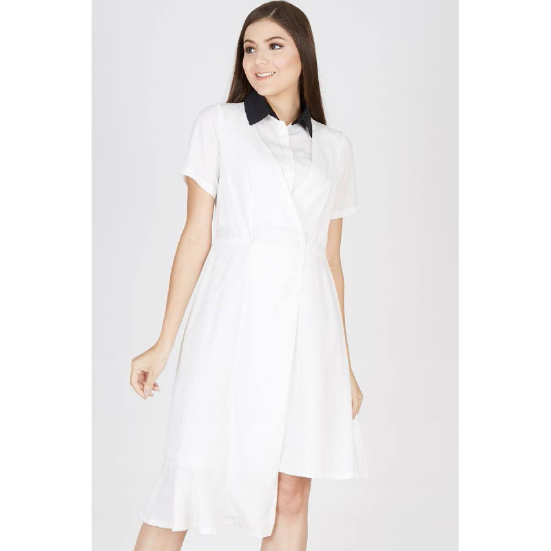 Pinistri two tone Dress White