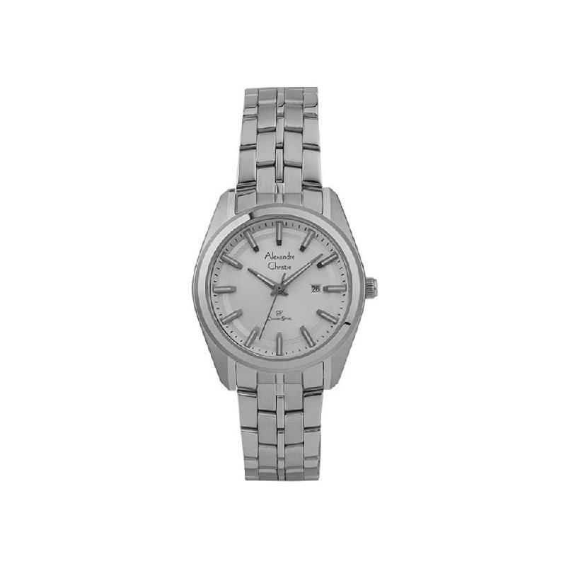 Alexandre Christie AC 8637 LDBSSSL Women Watch Stainless Steel Silver White