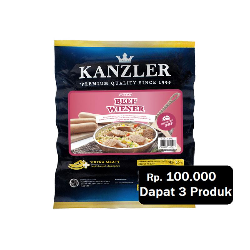 Kanzler Beef Wiener 400 Gr (Rp. 100.000 Dapat 3)