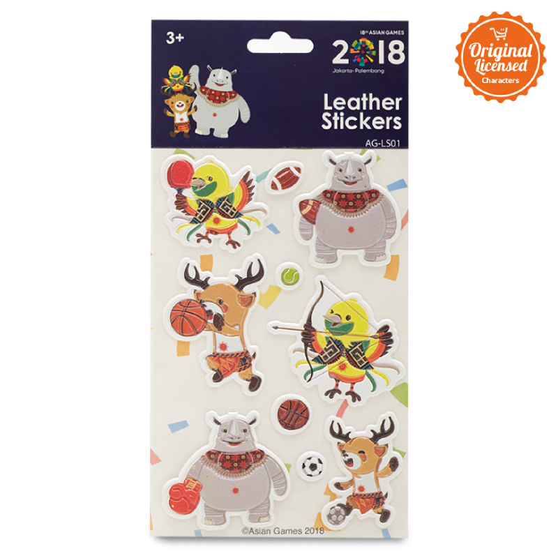 Asian Games Leather Sticker AG-LS001