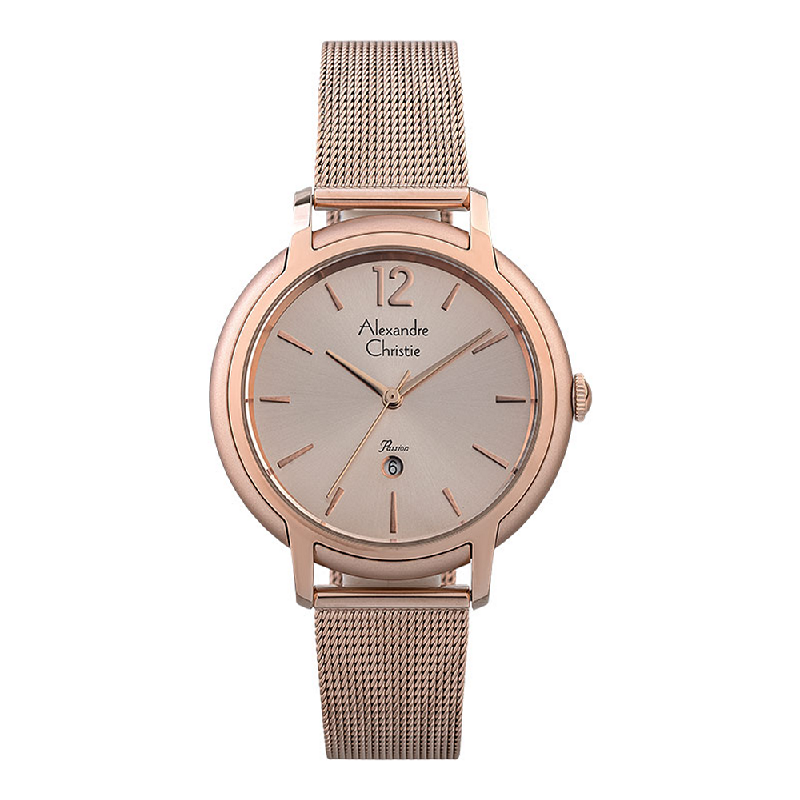 Alexandre Christie Passion AC 2912 LD BRGLNBO Ladies Rose Gold Dial Rose Gold Mesh Strap