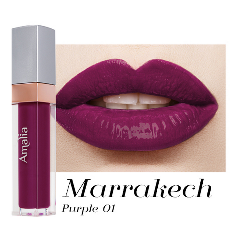 Amalia Glossy Lip Cream Marrakech Purple 01
