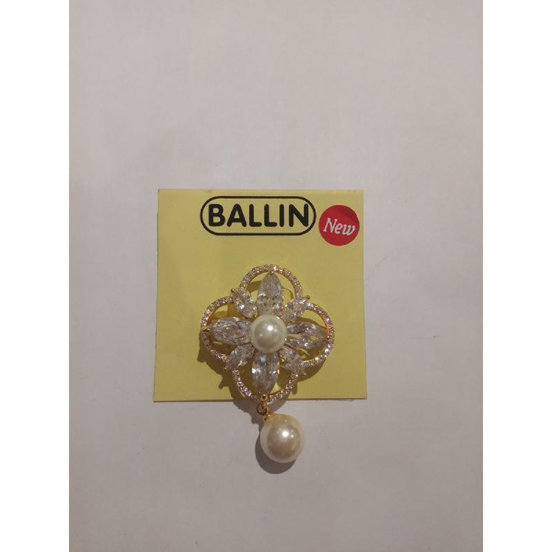 Ballin Women Brooch FF-BR0022G Silver