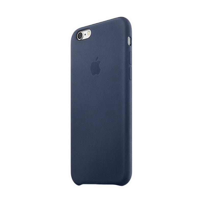 Apple Original iPhone 6S Plus - 6 Plus Leather Case Premium Midnight Blue