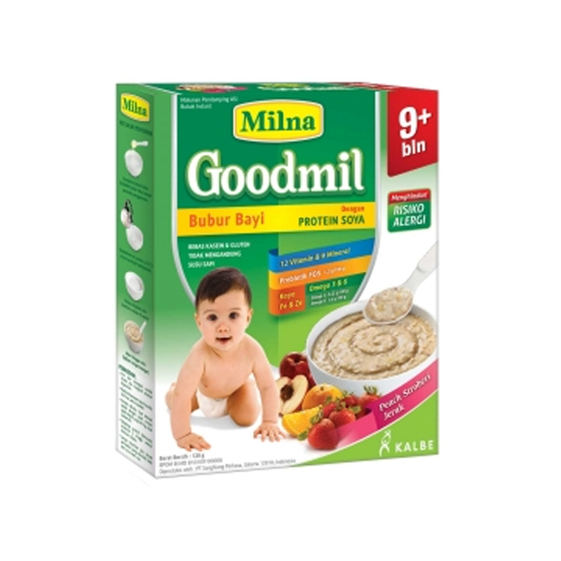 Milna Goodmil Bubur Bayi Rasa Peach Strawberry Jeruk Box 120 Gr