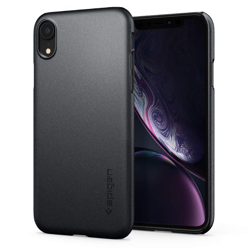 Spigen iPhone XR Case Thin Fit - Graphite Gray