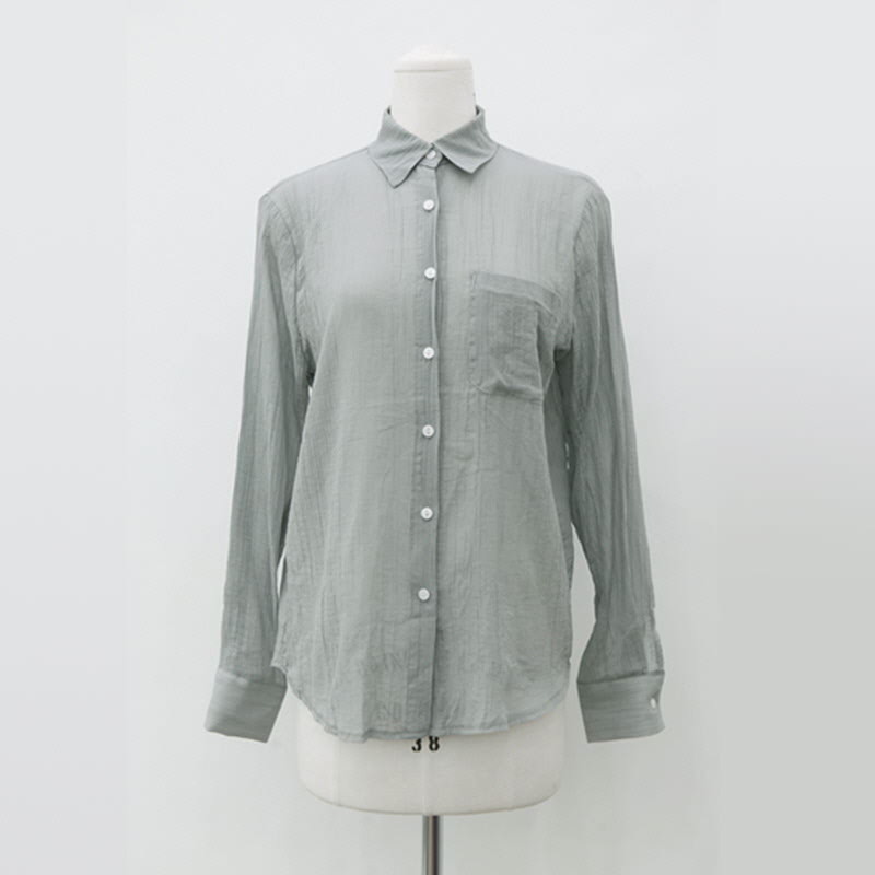 Wrinkled Shirt (4color) GREY