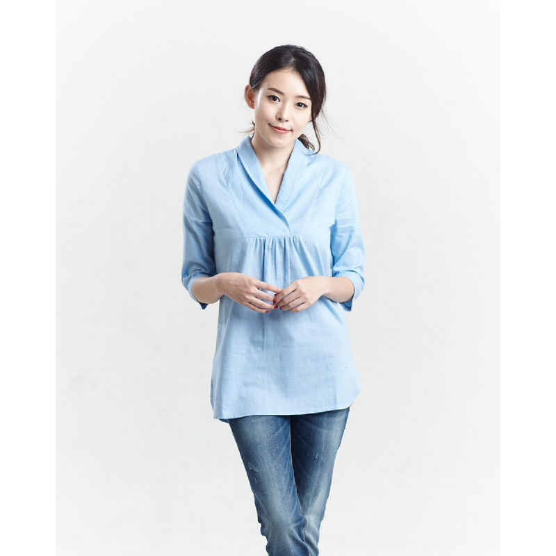 Miyoshi josei MJ17BL021PN Fancy Blouse Light Blue