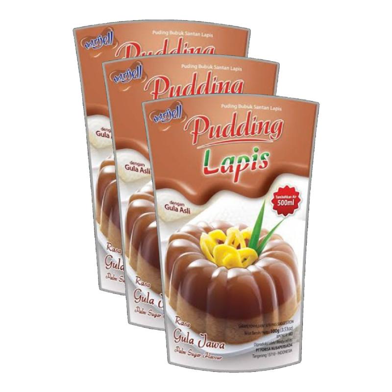 Nutrijel Pudding Lapis Gula Jawa 110G (Buy 2 Get 1)