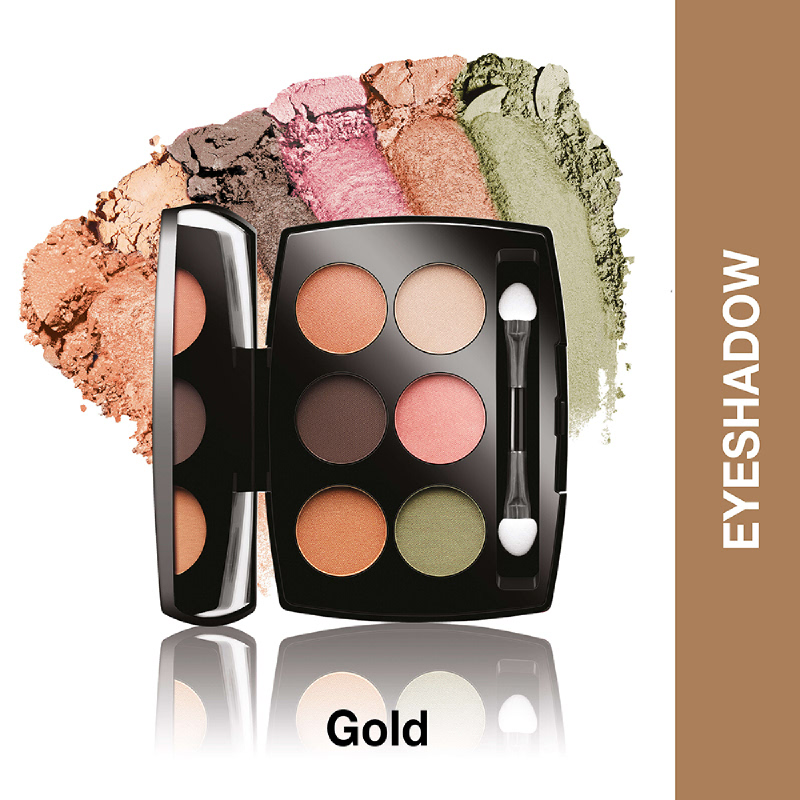 Lakme Absolute Reinvent  Illuminating Eye Shadow Palette Gold