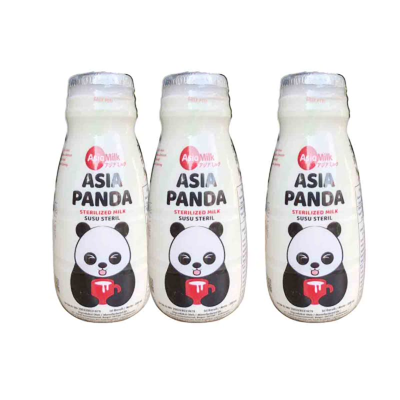 Asia Panda Sterilized Milk 200Ml (Buy 2 Get 1)