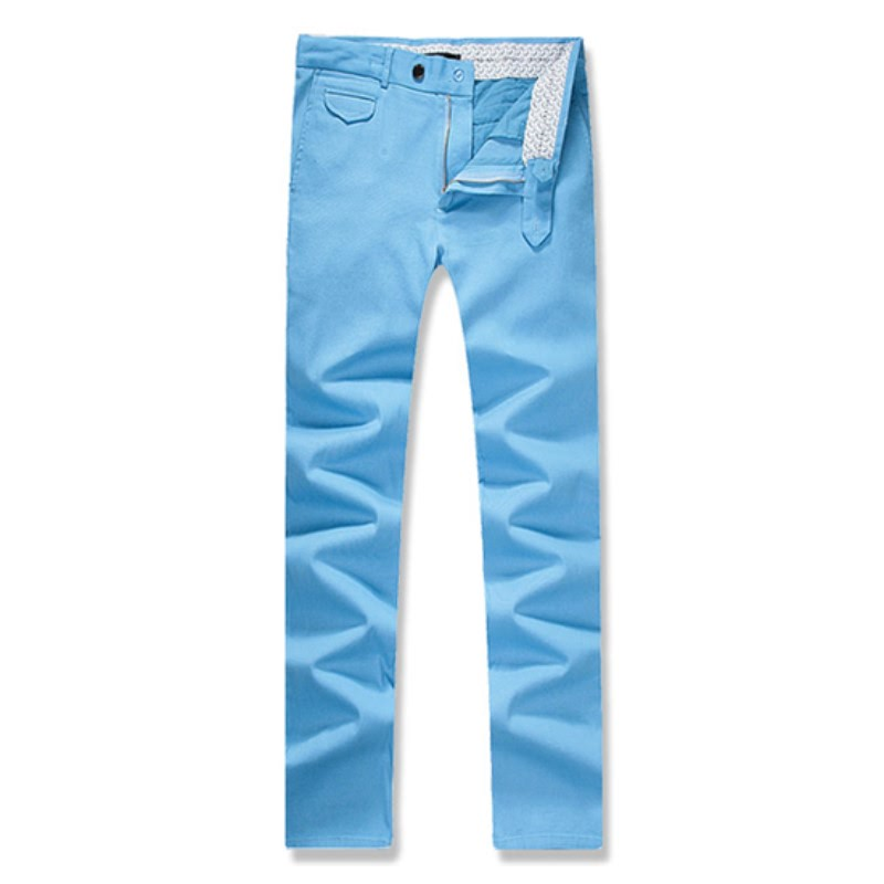 Out Pocket Cotton Span Pants - BLU