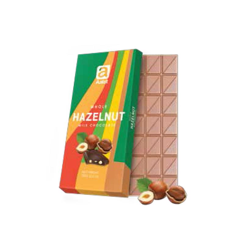 Aalst Chocolate Whole Hazelnut Milk Chocolate 100 Gr