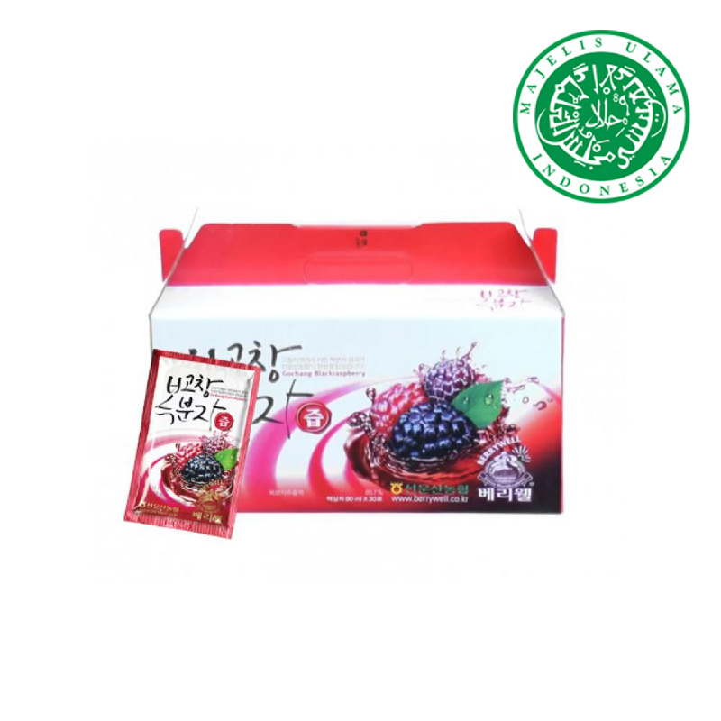 Bokbunja Gochang Berrywell Black Raspberry Juice isi 30 Sachet Exp.25 Mei 2019