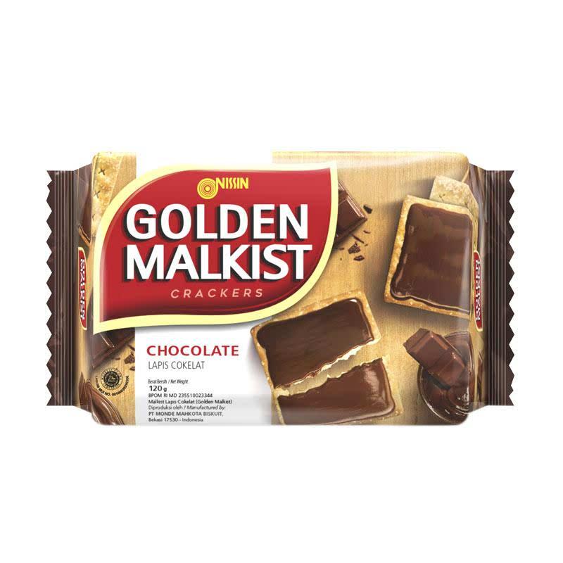 Nissin Golden Malkist Crackers Chocolate 120 gr