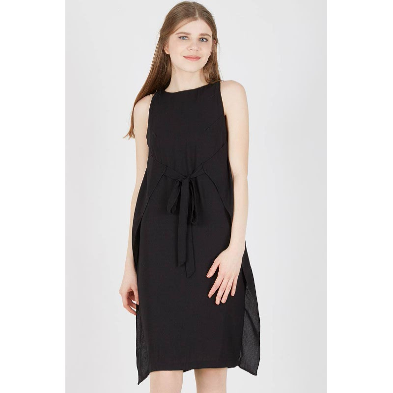 Helmana Black Tied Dress