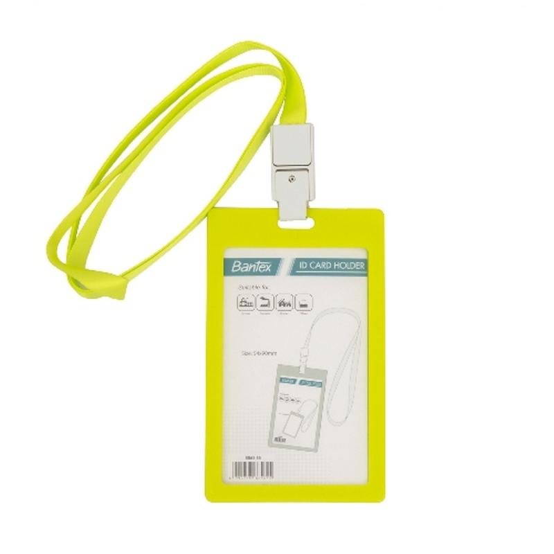 Bantex ID Card Holder Larnyard 54x90mm Portarit Lime -8865 65