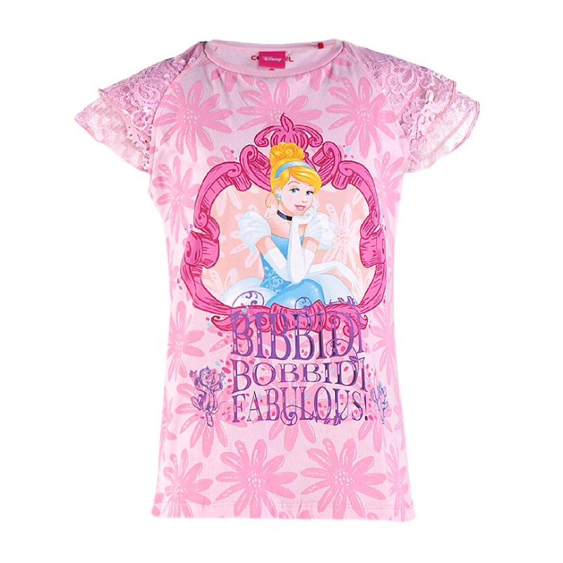 Princess Cinderella T-Shirt Girl Pink