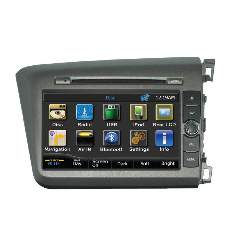 MOBILETECH Headunit For Civic 8 Inch