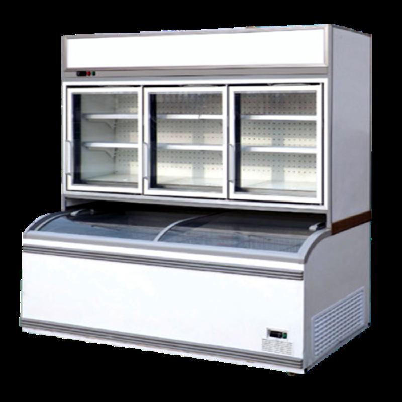 Crown Combined Island Freezer SWG-2500 Oscar Combined Counter