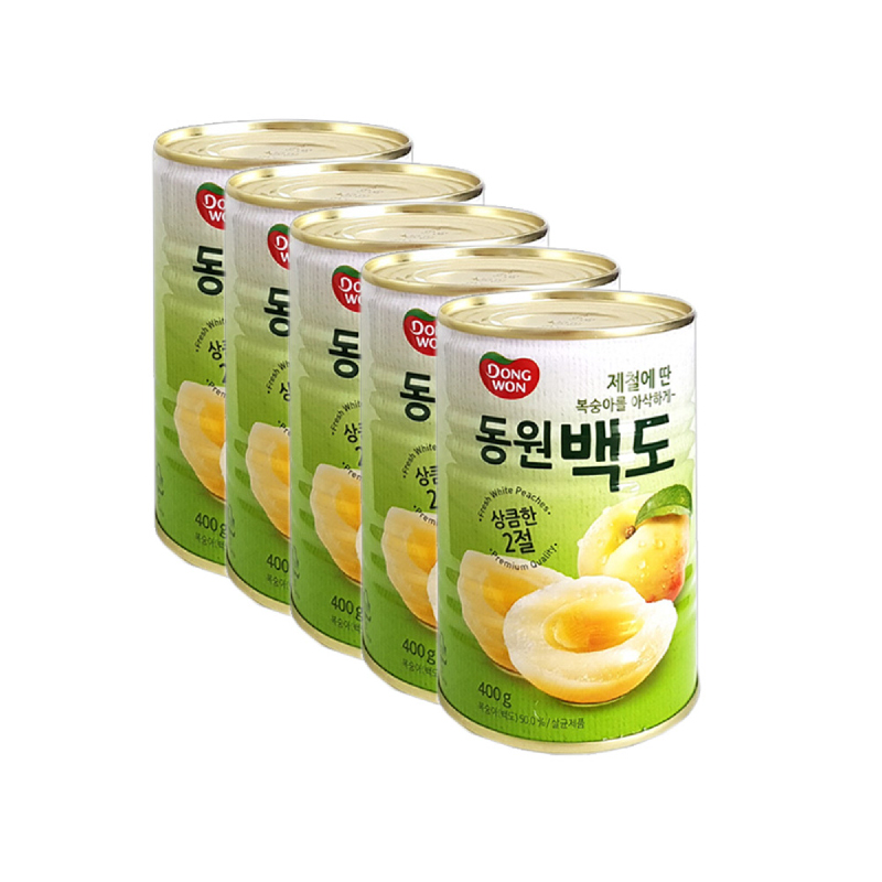 White Peach 400 gr 5 pcs
