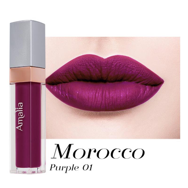 Amalia Matte Lip Cream Morocco Purple 01