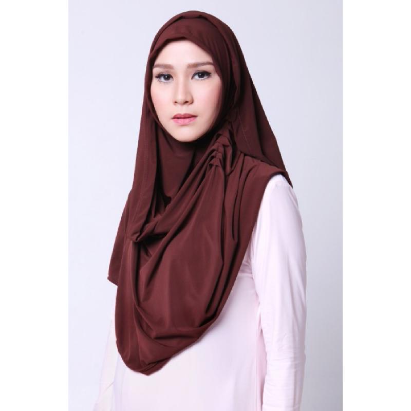 BIA by Zaskia Mecca Kerudung Jersey Abira Coklat