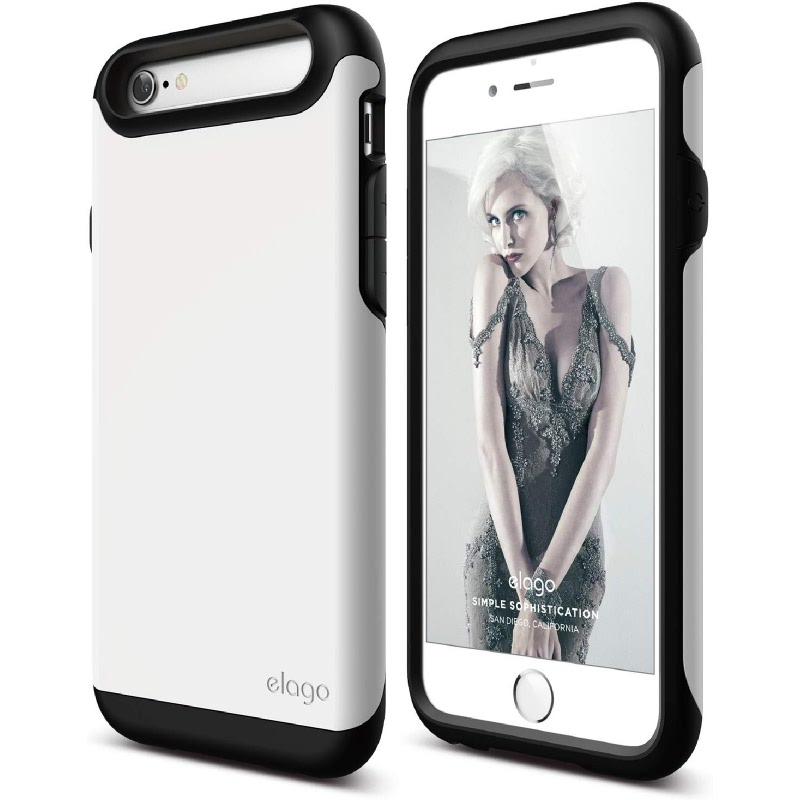 Elago Duro Black Case for iPhone 6, 6S - Matt Black + UV White