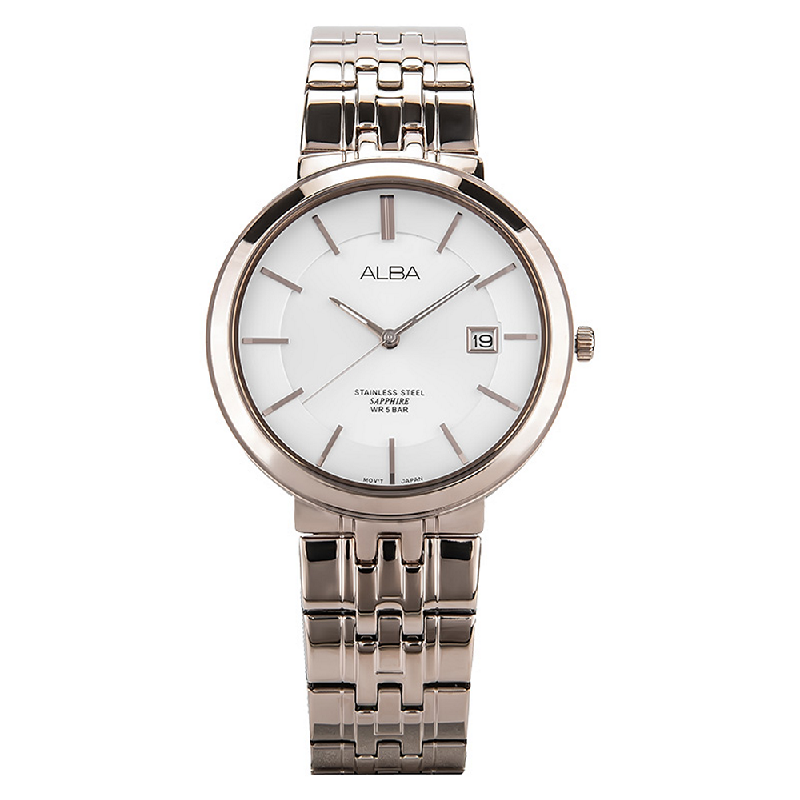 Alba AS9D70X1 Man White Dial Sapphire Crystal Stainless Steel