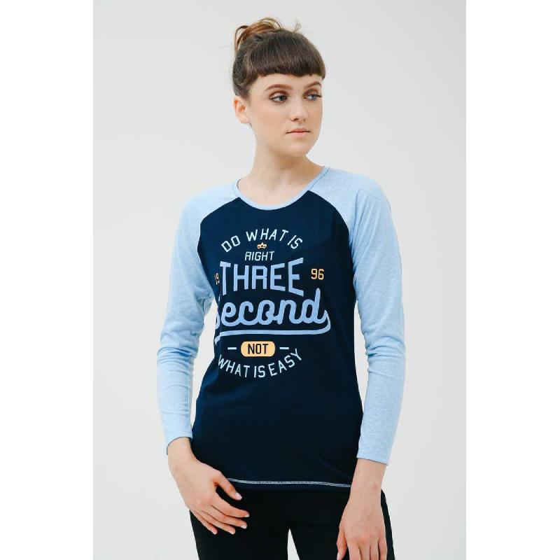 3Second Women Tshirt Longsleeve 5701.Navyblue