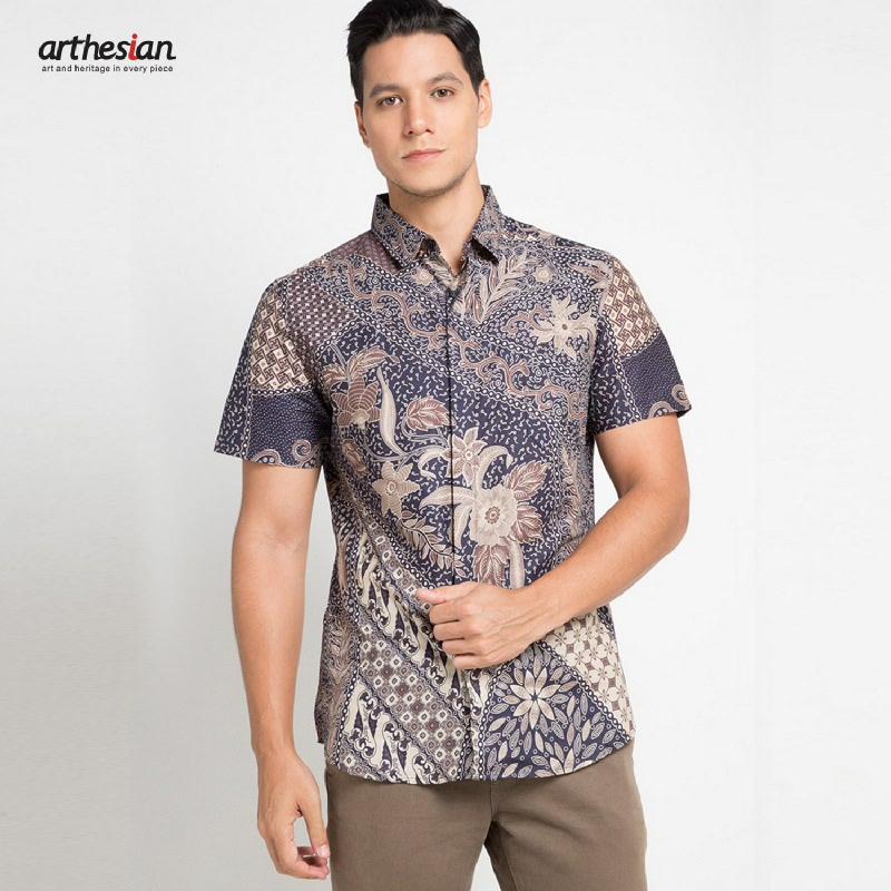 Arthesian Batik Pria Abhivandya Grey