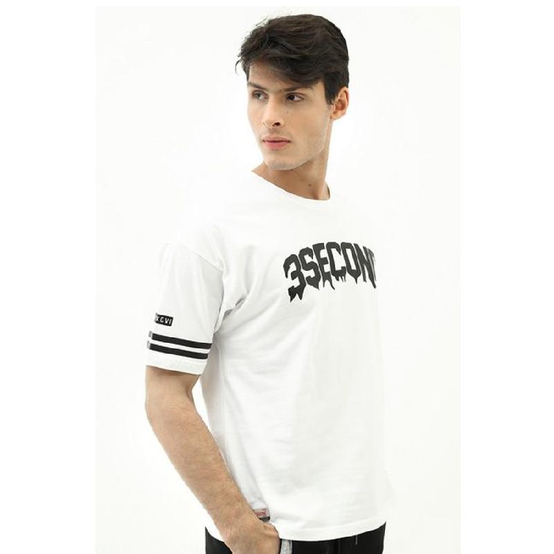 3second Men Tshirt T0704 White