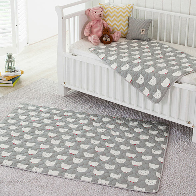 All-Cotton Quilt Waterproof Pad (big size) - Miko Grey