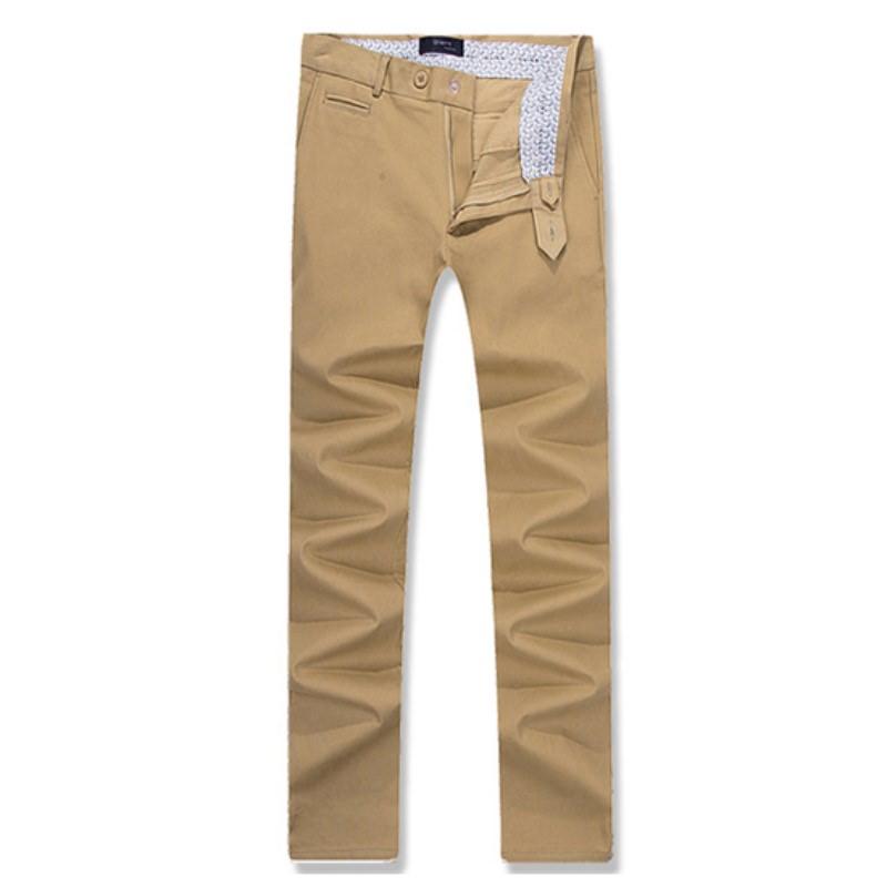 Coin Pocket Cotton Span Pants - Dark Beige