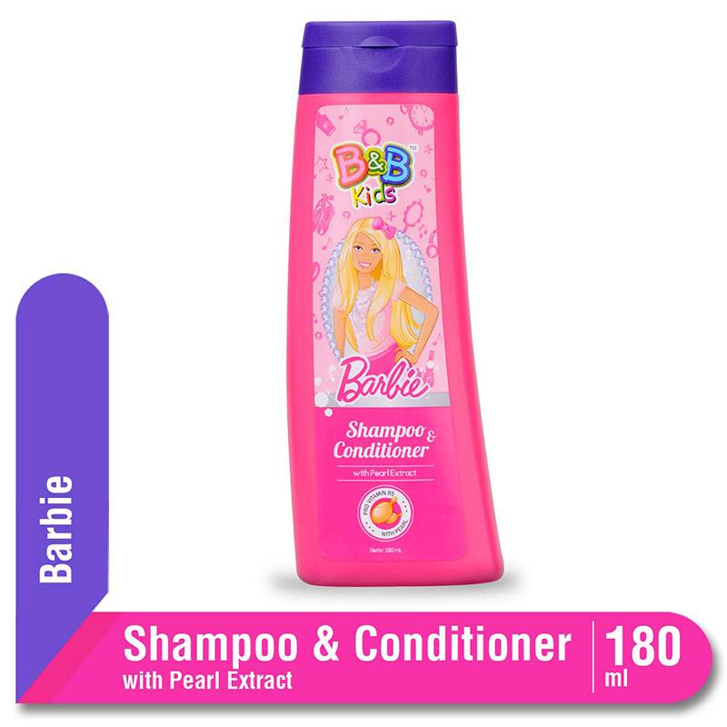 B&B Kids Barbie Shampoo Pearl 180 Ml