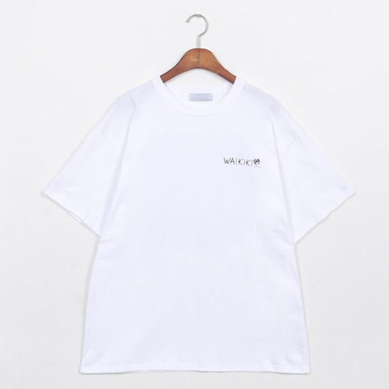 Waikiki Box Fit Short Sleeve T-shirt WH
