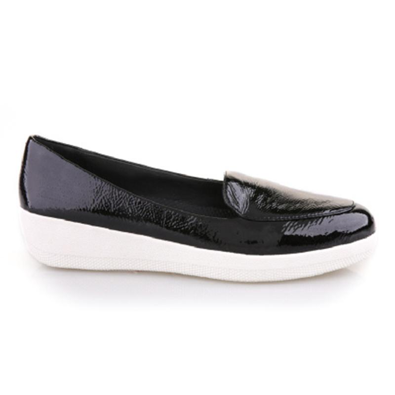 SNEAKER LOAFER, BLACK PATENT, FOOTWEAR, WN